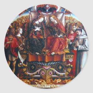 Crivelli: Coronation of Mary, Classic Round Sticker