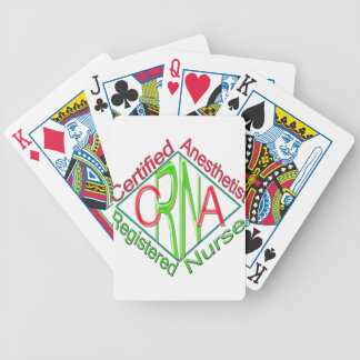 CRNA ACR RG Certified Registered Nurse Anesthetist Bicycle Playing Cards