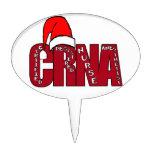 CRNA Certified Registered Nurse Anesthetist SANTA Cake Picks
