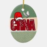 CRNA Certified Registered Nurse Anesthetist SANTA Ceramic Ornament