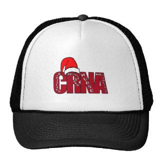 CRNA Certified Registered Nurse Anesthetist SANTA Trucker Hat