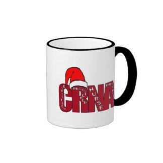 CRNA Certified Registered Nurse Anesthetist SANTA Ringer Coffee Mug
