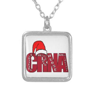 CRNA Certified Registered Nurse Anesthetist SANTA Custom Necklace
