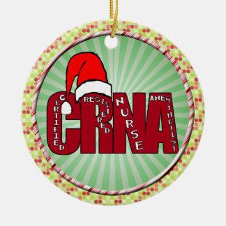 CRNA Certified Registered Nurse Anesthetist SANTA Ornaments