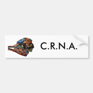 CRNA Hat Bumper Sticker