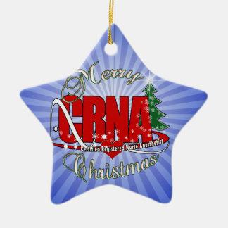 CRNA MERRY CHRISTMAS Nurse Anesthetist Ceramic Ornament