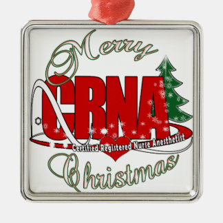 CRNA MERRY CHRISTMAS Nurse Anesthetist Ornaments