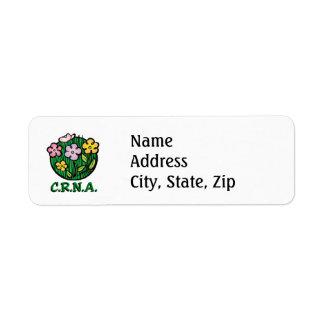 CRNA Nurse Blooms Label