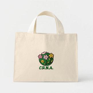 CRNA Nurse Blooms Mini Tote Bag