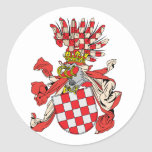 Croacia, Austria Etiquetas Redondas