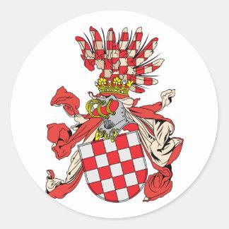 Croacia, Austria Pegatina Redonda