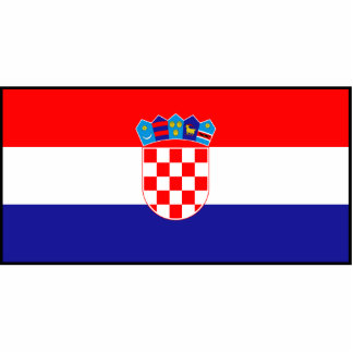 Croacia - bandera croata fotoescultura vertical