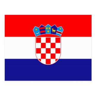 Croacia - bandera croata tarjeta postal