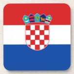 Croacia: Bandera de Croacia Posavasos De Bebida