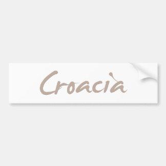 Croacia Car Bumper Sticker