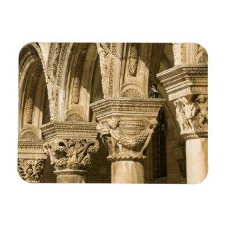 Croacia, Dalmacia, Dubrovnik. Arcos de piedra y Imán Rectangular