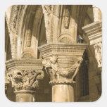 Croacia, Dalmacia, Dubrovnik. Arcos de piedra y Colcomanias Cuadradas Personalizadas
