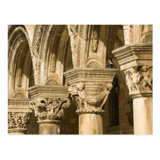 Croacia, Dalmacia, Dubrovnik. Arcos de piedra y Tarjeta Postal