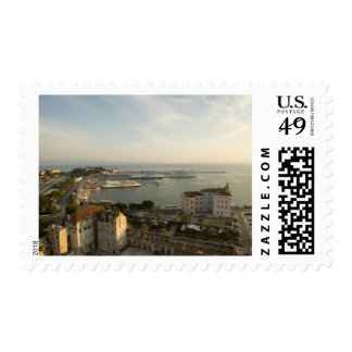 Croacia, Dalmacia, fractura. Vista de Riva Sello Postal