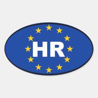 Croacia - hora - europeo colcomanias óval personalizadas