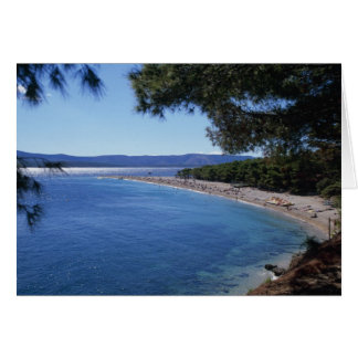 Croacia, isla de Brac, Bol, playa de oro 2 del cab Tarjeta De Felicitación