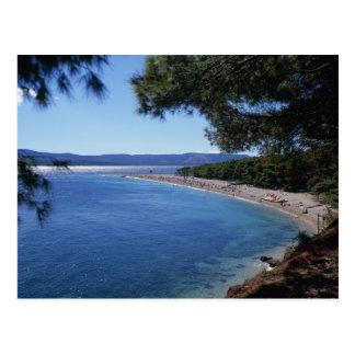 Croacia, isla de Brac, Bol, playa de oro 2 del Postales