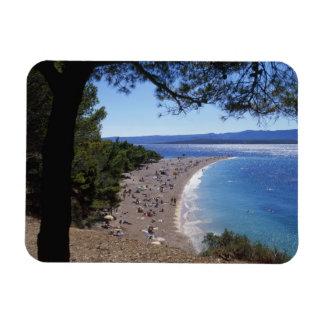 Croacia, isla de Brac, Bol, playa de oro del cabo Imán Flexible