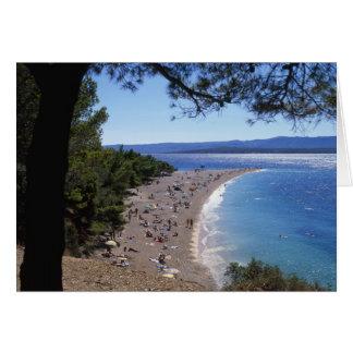 Croacia, isla de Brac, Bol, playa de oro del cabo Tarjeta De Felicitación
