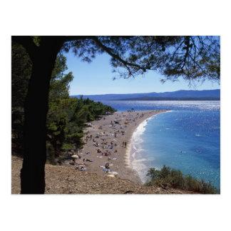 Croacia, isla de Brac, Bol, playa de oro del cabo Tarjeta Postal