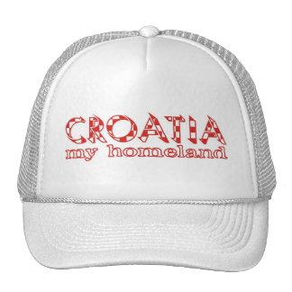 Croacia mi patria gorras de camionero