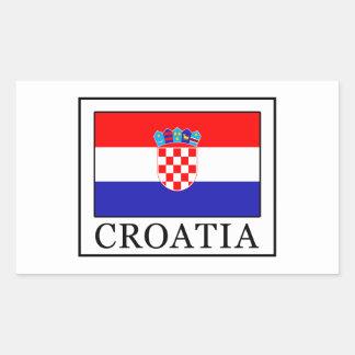 Croacia Pegatina Rectangular