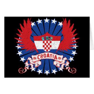 Croacia se fue volando tarjeta de felicitación