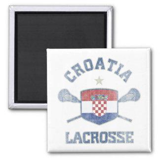 Croacia-Vintage Imán Cuadrado