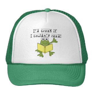 Croar de la rana si no podría leer las camisetas y gorras de camionero