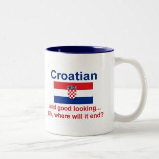 Croata apuesto tazas de café