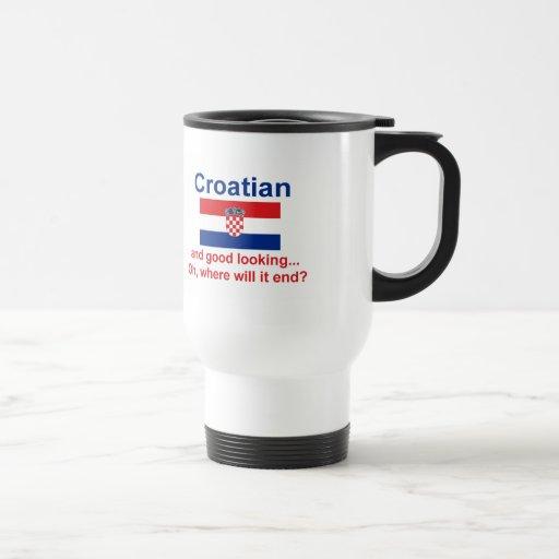 Croata apuesto tazas
