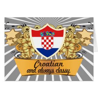 Croata con clase tarjeta de felicitación
