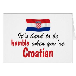 Croata humilde tarjeta de felicitación