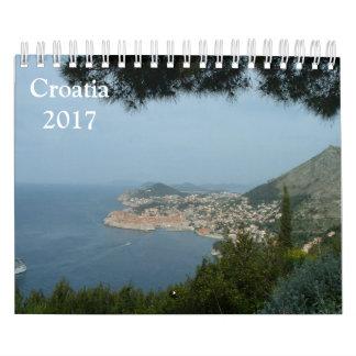 Croatia 2017 calendar