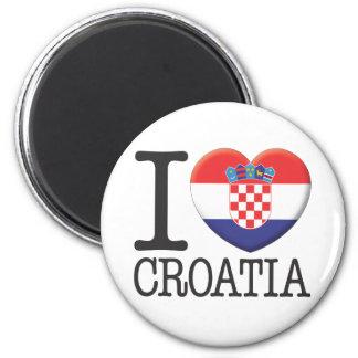 Croatia 2 Inch Round Magnet