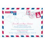 Croatia Air Mail Post Wedding Reception Card
