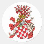 croatia, Austria Round Stickers