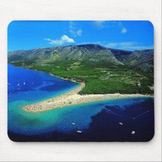 Croatia - beach zlatni rat mouse pad