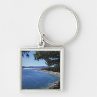 Croatia, Brac Island, Bol, Golden Cape Beach 2 Keychain