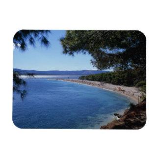 Croatia, Brac Island, Bol, Golden Cape Beach 2 Rectangular Photo Magnet