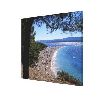 Croatia, Brac Island, Bol, Golden Cape Beach Canvas Prints
