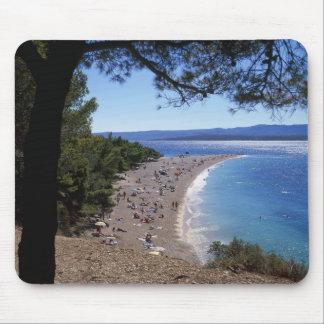 Croatia, Brac Island, Bol, Golden Cape Beach Mouse Pad