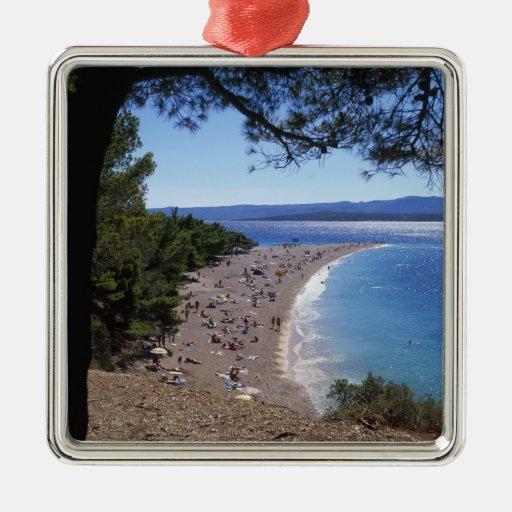 Croatia, Brac Island, Bol, Golden Cape Beach Ornament