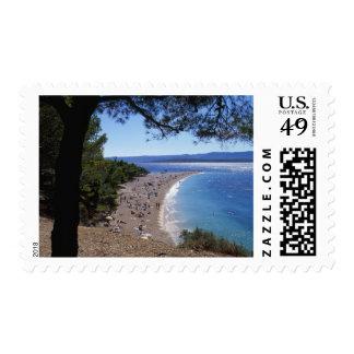 Croatia, Brac Island, Bol, Golden Cape Beach Postage Stamp
