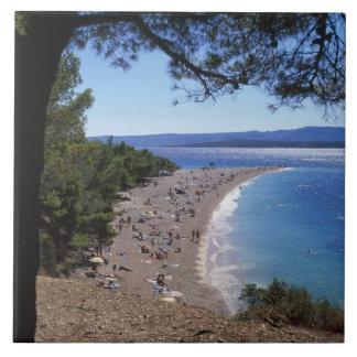Croatia, Brac Island, Bol, Golden Cape Beach Tile